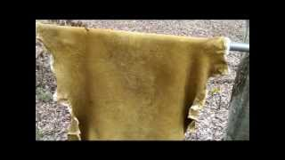 brain tanning deer hides- smoking hides: [ part 10 of 10 ]