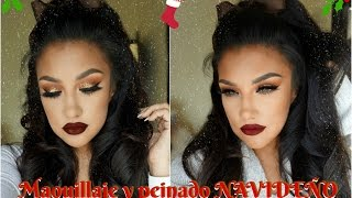Maquillaje + Peinado para  Noche Buena Navidad / Christmas Eve Makeup tutorial  | auroramakeup