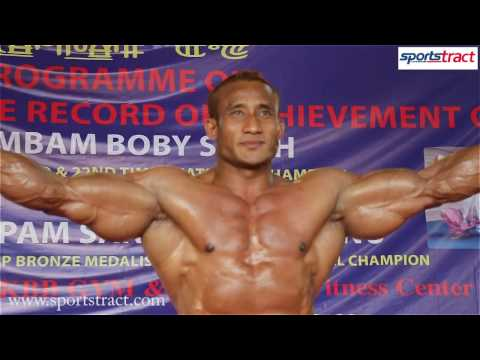 5 Times World Champion Arambam Boby Flexes Muscles For The Well Wishers
