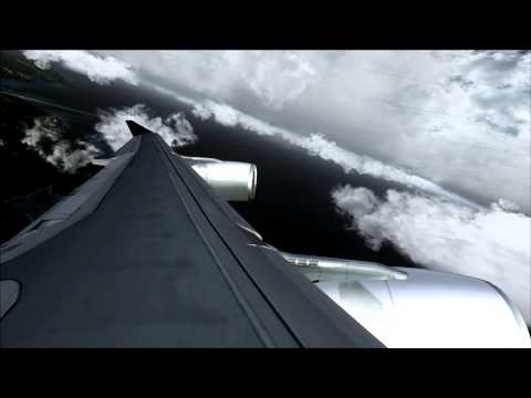 Airbus A340-300 flying over American Samoa