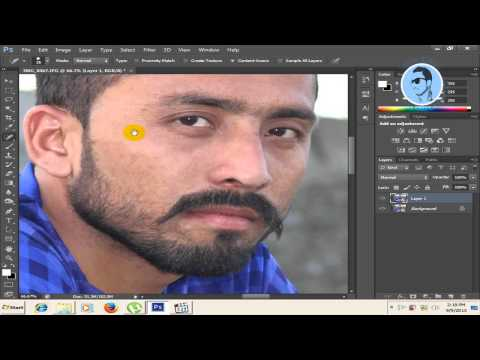 how to clear face in photoshop cs5