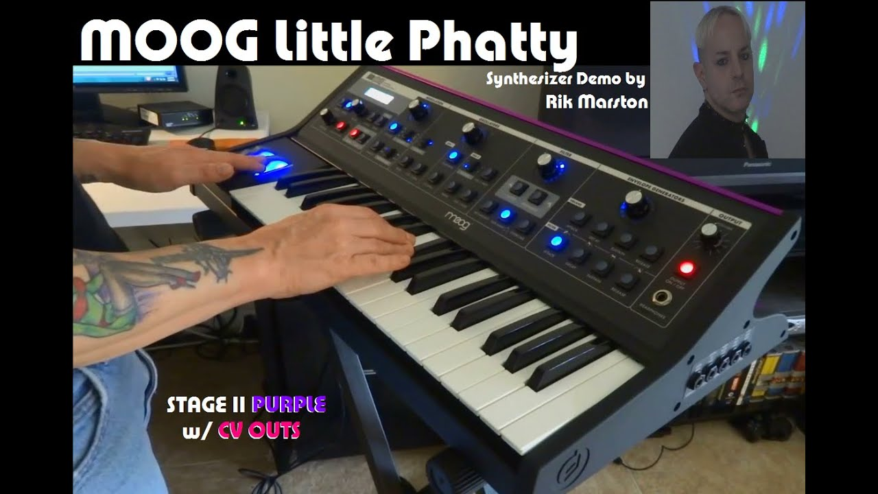 moog little phatty stage ii purple w   cv outs analog