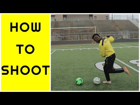 How to shoot a soccer ball like a PRO  Kick with power and accuracy TUTORIAL