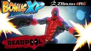 Zbrush sketch - Deadpool by BonusXP Artist Nick Resa