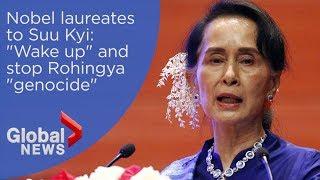 Nobel Peace laureates blast recipient Aung San Suu Kyi over Rohingya 'genocide'