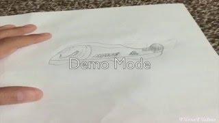 how to draw nike shoe (speed draw)