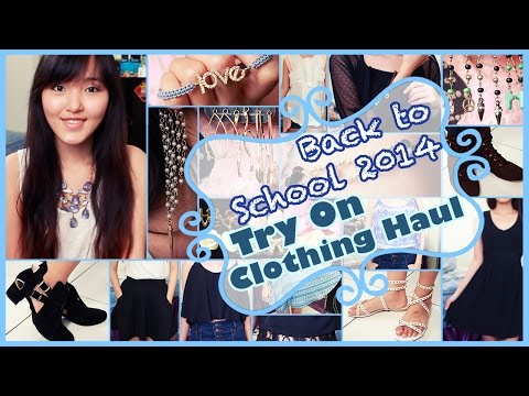 Back To School 2014 : Try On Clothing Haul | Lily Zhen