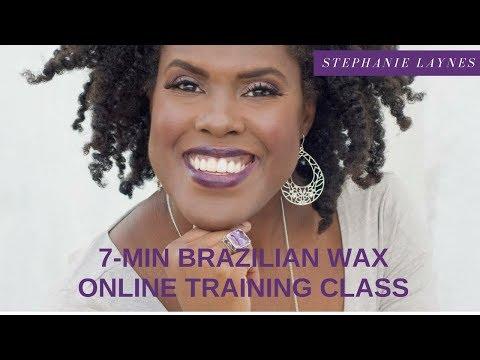 7-Min Brazilian Wax Training  Esthetician Education Training Esthetician School
