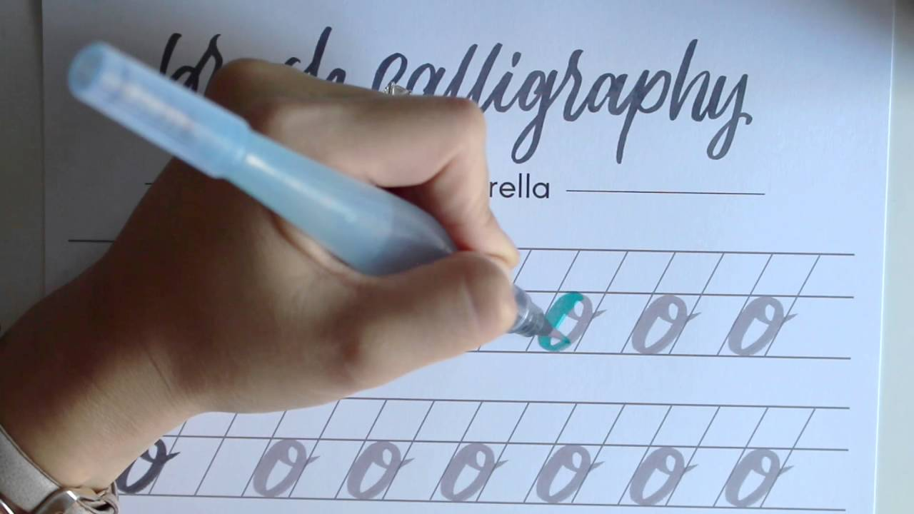 Brush calligraphy guide tutorial {m p} youtube