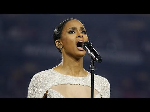 Ciara Stuns Singing the National Anthem, But Her Vocals Are Under Fire