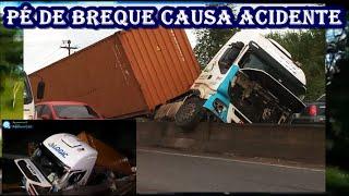 Carreta tenta desviar de fechada de carro pequeno e sofre acidente na BA
