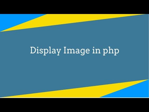 How to display image from mysql database in php in hindi