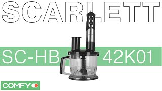 Scarlett SC-HB42K01 - блендер с расширенной комплектацией - Видеодемонстрация от Comfy.ua