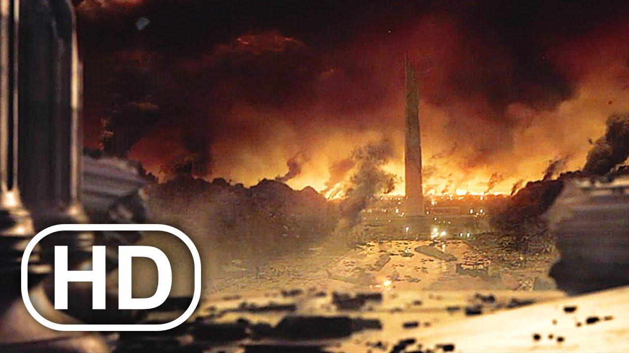 Transformers Megatron Destroys America & Rules Planet Earth Scene 4K ULTRA HD