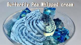 Butterfly Pea Whipped cream