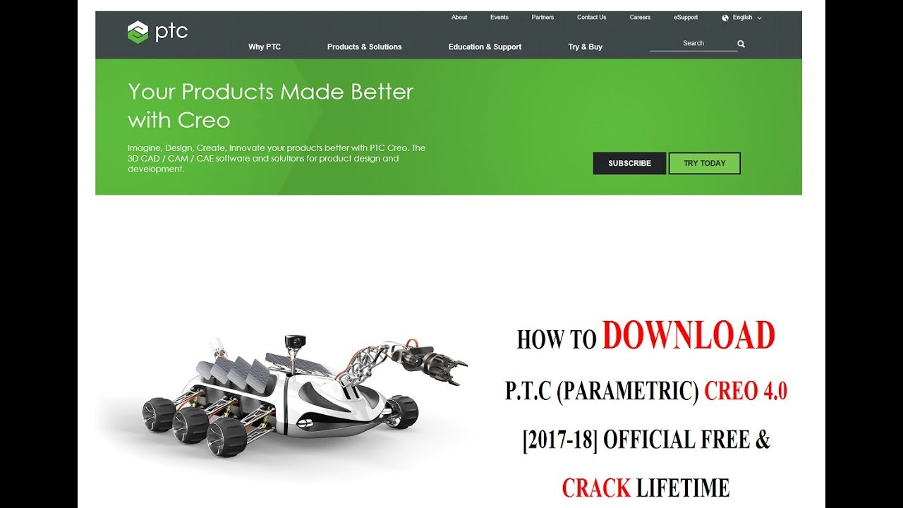 How to Download Parametric PTC Creo 4.0 2017- 18 Official + Crack + Activation Hindi-English. - YouTube