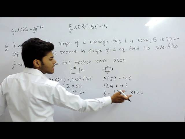 Exercise 11.1 - Question 6 NCERT Solutions for Class 7th Maths Perimeter and Area