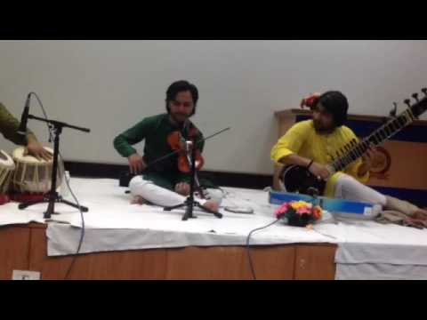 Danish Ali Khan and Adnan Khan duet tabla on Hafeez ahmed raag yaman