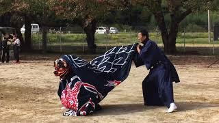 秋祭りinおがわ2018 にて浪江町川添芸能保存会のみなさんによる神楽披露4.