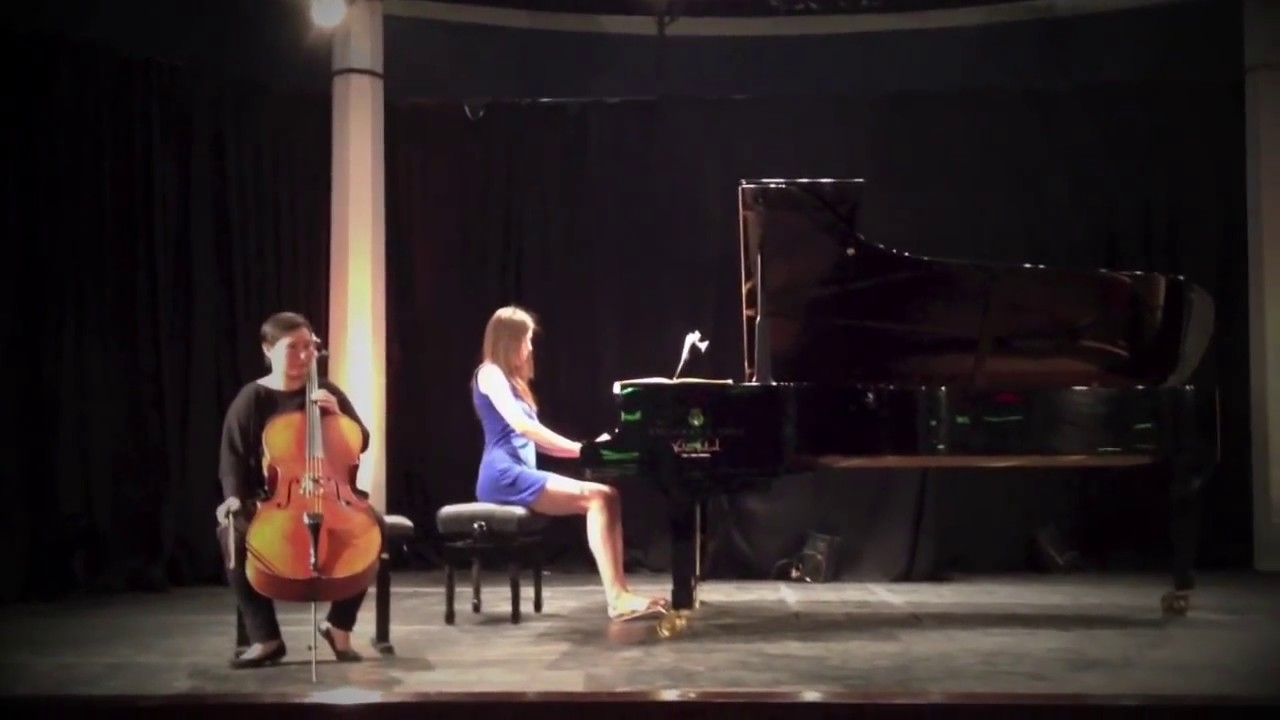 Rachmaninov  Oh, never sing to me again (Cello/Piano) - Sandi Toka Nova / Irina Grebaus