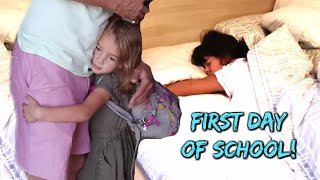 GET READY WITH ME FIRST DAY OF SCHOOL 2018 | Large Family of 6 Kids