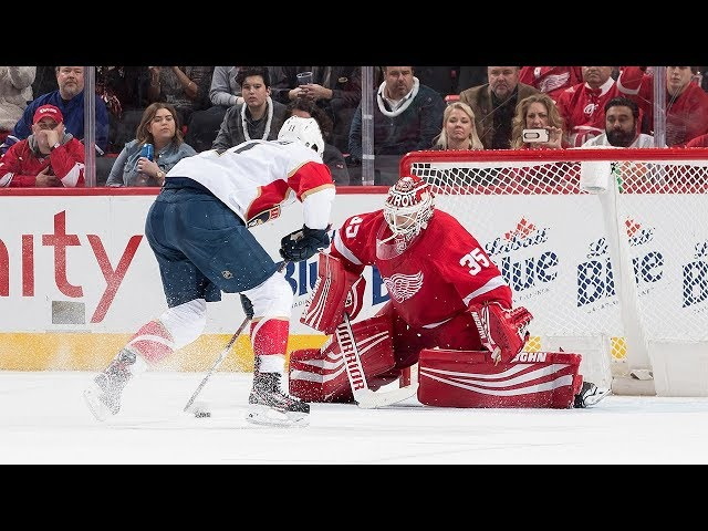 Panthers outlast Red Wings in shootout
