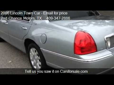 2006 Lincoln Town Car Signature Limited For Sale In Beaumo Youtube