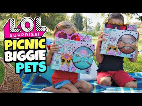 LOL SURPRISE PICNIC con i  BIGGIE PETS: Neon Kitty e MC Hammy