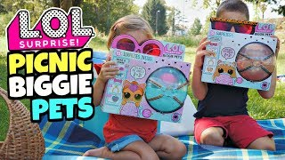 LOL SURPRISE PICNIC con i  BIGGIE PETS: Neon Kitty e MC Hammy