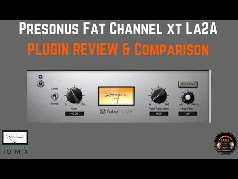 Presonus Studio One  - Fat Channel LA-2A Plugin Review - HomeRecordingMadeEasy.com