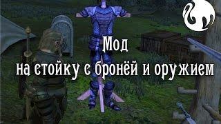 Мод на стойку с бронёй и оружием в Dragon age Origins