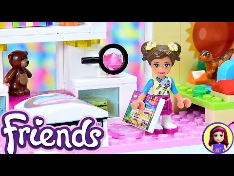 Lego Friends Little Olivia's Toddler Bedroom - Custom Girls Room Renovation DIY Craft