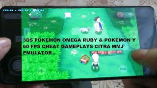 Pokemon Y & Pokemon Omega Ruby 60 FPS Cheat Gameplay Citra MMJ Emulator Redmi K20 Pro Snapdragon 855