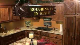 Roughing It In Style: Kitchencabinets