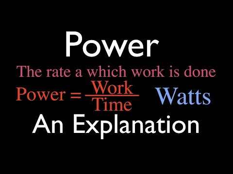 Physics, Power, An Explanation