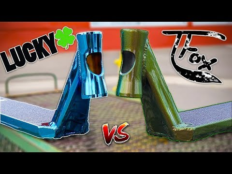 TANNER FOX SIG DECK VS LUCKY AXIS SCOOTER DECK UNBOXING