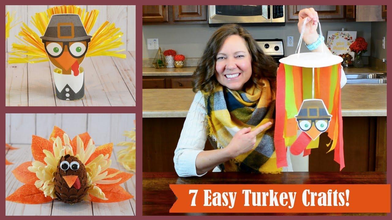 7 Easy Thanksgiving Crafts Diy Turkey Craft Ideas Youtube