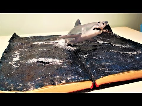 EPOXY RESIN DIORAMA shark in the book - Resin Art