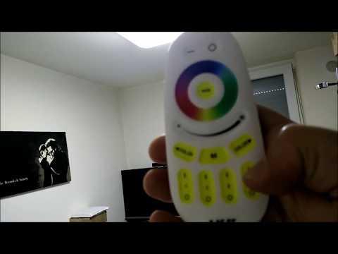 HG® 90W LED Deckenlampe, Dimmbar 3000k-6500k RGB Farben, Fernbedienung