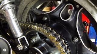 Jak čistit a mazat řetěz na motorce, asi milion první video na toto téma