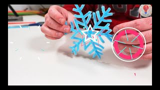 Snowflake!!Do it yourself!!Christmas!!Сrafts!!DIY!!