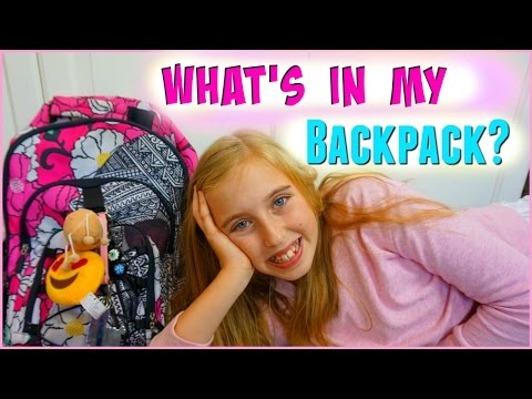 What's In My Backpack 2016