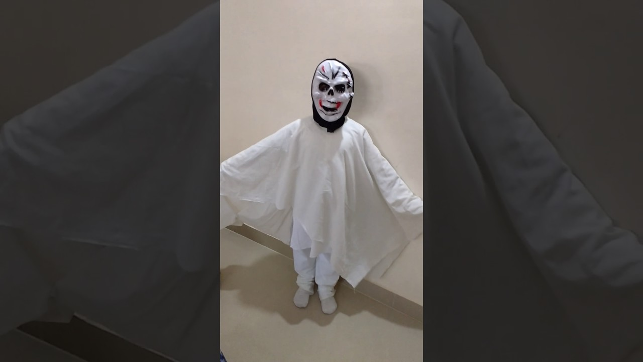 govardan's ghost costume for fancy dress competition ukg - youtube