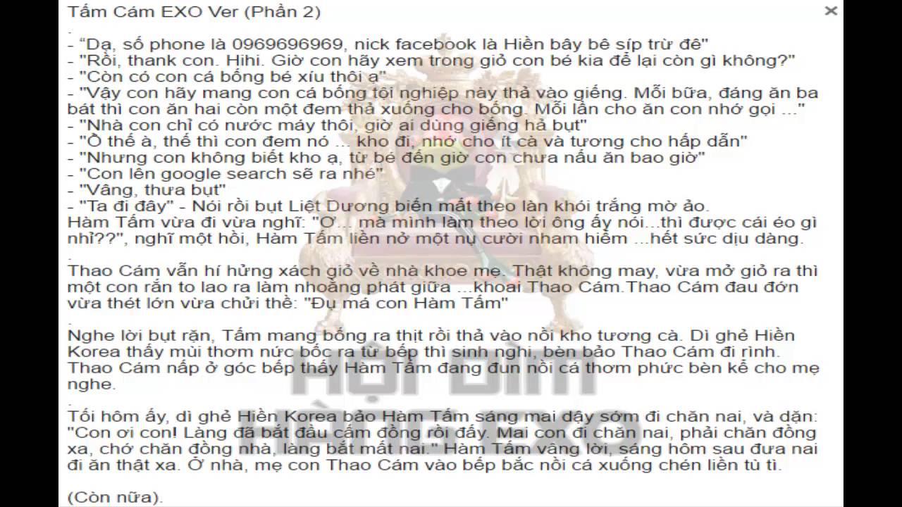 [Kể Truyện] Tấm Cám EXO Ver (Phần 2)
