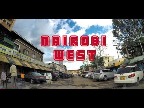 Driving through Nairobi West Commercial Center in Nairobi Kenya