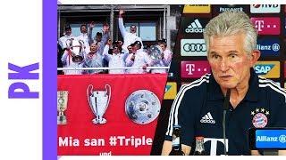 """Bayern-PK mit Jupp Heynckes - """"Besseres Spieleraufgebot als im Triple-Jahr"""""""