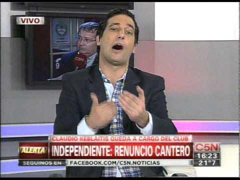 C5N - FUTBOL: RENUNCIO JAVIER CANTERO EN INDEPENDIENTE