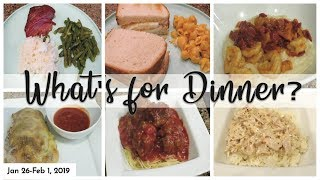 WHAT'S FOR DINNER | WITH RECIPES | EASY DINNERS | JAN