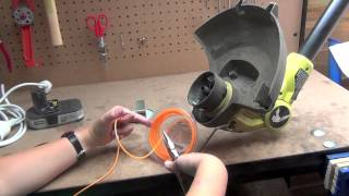 Line Trimmer Line Replacement of a Ryobi One+ 2013