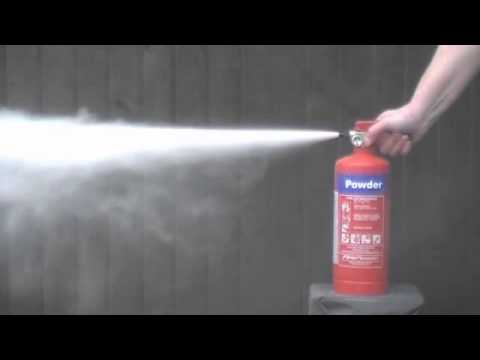 Fire extinguisher discharge test - YouTube
